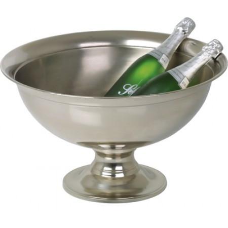 Premium-Vin-champagnebowle-på-høj-Forniklet