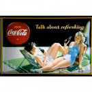 Coca Cola Talk about Refreshing skilt
