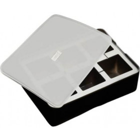 Lurch Isterningebakke i sort silikone med låg -5x5 cm.