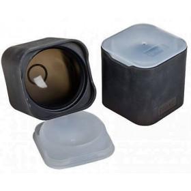Lurch Isterningebakke i sort silikone med låg - Ø60 mm.