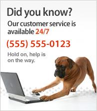 Kundeservice er åben 24 timer i døgnet. Ring til os på +45 10 10 10 10